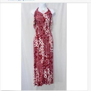 Dresses & Skirts - HAWAII RED FLORAL PRINT FULL LENGTH SUNDRESS 2XL